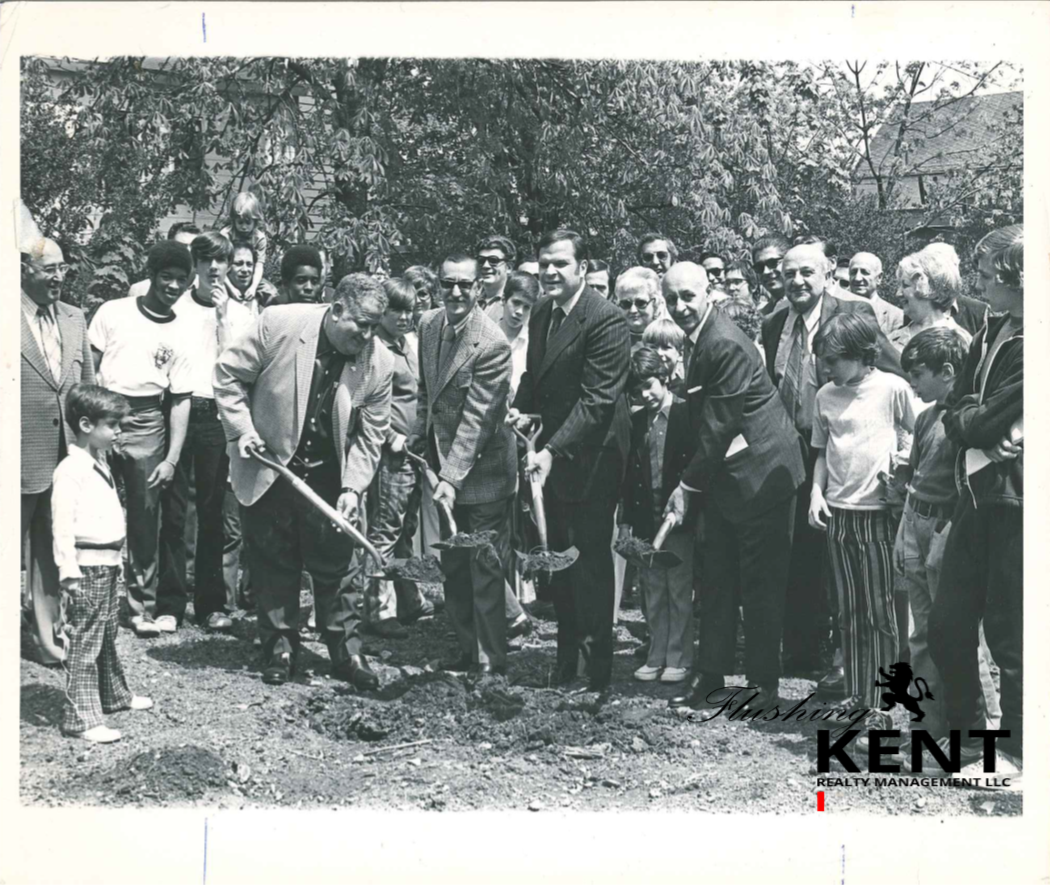 BREAKING GROUND FOR ORIGINAL FLUSHING BOYS CLUB